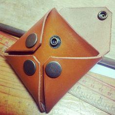 Leather Coins bag - Handmade - HongKong