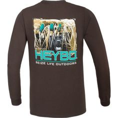 c02daf78 Heybo Men's Maggie in Blind Long Sleeve T-shirt (Brown, Size XXX Large