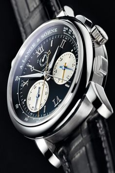 A. Lange Söhne Lange Double Split Watch 404.035 . On display at the second edition of World Brand Piazza exhibition, a part of Hong Kong Watch & Clock Fair,