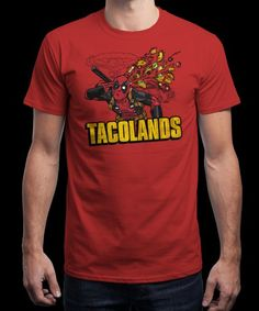"""Tacolands"" is today's £8/€10/$12 tee for 24 hours only on www.Qwertee.com Pin this for a chance to win a FREE TEE this weekend. Follow us on pinterest.com/qwertee for a second! Thanks:)"