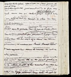 Manuscript page from Raymond Roussel's Locus Solus