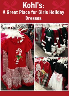Kohl's: The BEST Place for Girl's Christmas Dresses & Children's Holiday Pajamas #ad #ChristmasApparel @kohls