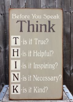 THINK sign made by The Primitive Shed, St. Catharines
