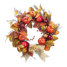 Found it at Wayfair - Mixed Pomegranate Apple Wreath Autumn Illustration, Christmas Illustration, Christmas Scrapbook, Christmas Art, Wreath Watercolor, Watercolor Flowers, Exotic Flowers, Faux Flowers, Flower Frame