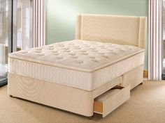 Kaymed Opulence Pillow Top King Size Divan Bed available in a choice of 4 colourways