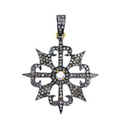 Gemstone Pendant 925 Sterling Silver Moonstone Diamond Pave 14K Gold Jewelry NEW…