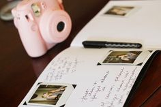 Bridal Shower Book of Advice for the Bride with Fujifilm Instax Mini 8 Camera | Running On Plenty