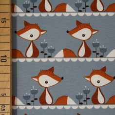 Jersey, Bio-Jersey Stoffonkel, Little Fox grau Stoffonkel Grundpreis Euro/Meter Little Fox, Kids Rugs, Quilts, Blanket, Holiday Decor, Home Decor, Fabric Shop, United Kingdom, Fabrics