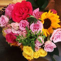 Rosas e Girassol