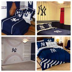 New York Yankees Bedroom Decor Newyorkyankeesmlbcomforterset  Bedding  Pinterest .