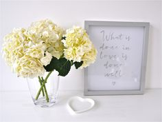 Beautiful flowers and a lovely quote from the White Company via Wear & Where. #inspiration #love
