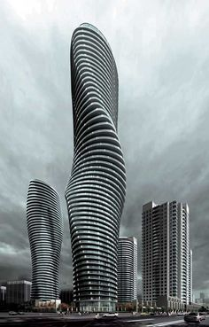 """Absolute Towers (aka """"Marilyn Monroe"""" towers) -- Mississauga, Ontario. Description from pinterest.com. I searched for this on bing.com/images"""