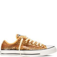 Chuck Taylor All Star Sequins Gold gold I WANT THESE! Size 8.5 (they run large)