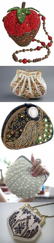 Немного бисера сумочки.. / Бисер / Украшения из бисера: схемы, мастер классы Handmade Handbags & Accessories - http://amzn.to/2iLR27v