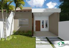 Planta de Casa - Térrea Geminada - Foto 2 Small House Layout, House Layouts, Tiny House Living, Layout Design, House Plans, Sweet Home, Exterior, House Design, Places
