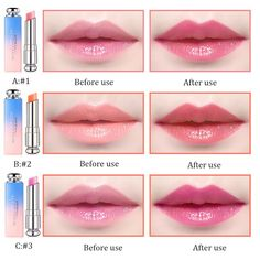 Beauty Bright Crystal Jelly Lipstick Magic Temperature Change Color Lip Balm Makeup Feature: Item:Lipstick Style:Sexy Long-lasting Moisturizer Color-changing Colors for Options Occasions:Wedding Bridal Date Brand New and High Quality Package Include: Lipstick Style, Dior Lipstick, Sheer Lipstick, Lipstick Colors, Lip Colors, Jelly Lipstick, Girls Lipstick, Liquid Lipstick, Chanel Makeup