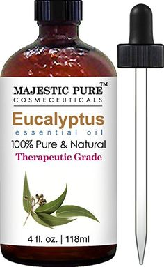 Majestic Pure Eucalyptus Essential Oil Pure and Natural with Therapeutic Grade Premium Quality Eucalyptus Oil 4 fl. Juniper Essential Oil, Basil Essential Oil, Jasmine Essential Oil, Cinnamon Essential Oil, Bergamot Essential Oil, Eucalyptus Essential Oil, Best Essential Oils, Mosquito Repellent Essential Oils, Clove Oil