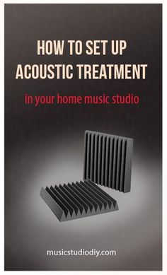How to Set up acoustic treatment in your home music studio. A step by step guide teaching you all about acoustic panels, bass traps and diffusers, as well as how to implement them in your home recordi Music Studio Decor, Home Recording Studio Setup, Home Studio Setup, Home Studio Music, Studio Ideas, Home Music Studios, Audio Studio, Sound Studio, Sound Room