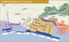 Walking map downtown Street Map of Ketchikan