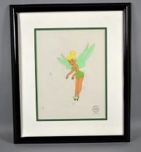 PLAYFUL PIXIE - SERICEL, TINKERBELL - Measures: Visable Art: 13.5''H x 10.5''W, Frame: 21''H x 18''W - Condition: Age appropriate wear; All items sold as is.