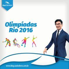 A abertura das Olimpíadas no Brasil acontece hoje. Comemore conhecendo mais sobre os seus esportes favoritos, biografias e com livros inspiradores no Recorde de preços baixos da Cia.!  Descontos de até 80%. Vem! -> http://www.ciadoslivros.com.br/campanha-jogos-mundiais-rio-2016