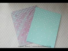 White/Translucent embossing paste comparison and a card using embossing paste and embossing powder! - YouTube