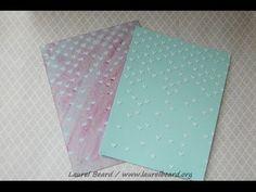 White/Translucent embossing paste comparison and a card using embossing paste and embossing powder!