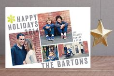 Breaking the Grid Holiday Photo Cards by Aspacia Kusulas at minted.com
