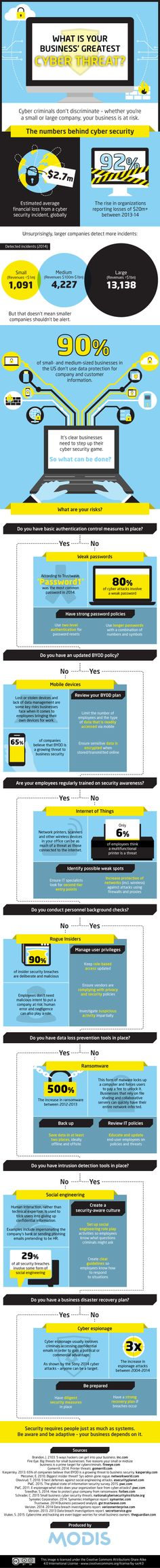 What is Your Business Greatest Cyber Threat? #infographic #Business #CyberThreat