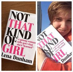 Lena Dunham displays the cover of her book 'Not That Kind of Girl' on Instagram on Feb. 10. The book hits shelves Sept. 30.