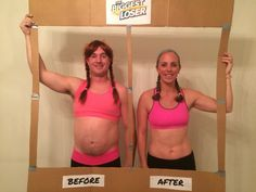 Biggest Loser Before and After Costume. Halloween 2015. Couple costume!