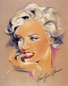 art - Marilyn par MC. Biard - Divine Marilyn Monroe