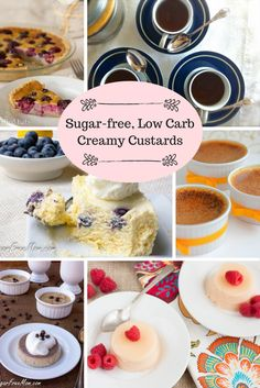 14 Creamy Sugar-Free Low Carb Custards