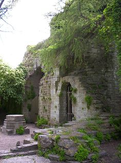 S:t Olof church ruins Visby, Sweden. Both construction details and fee lists for the Medieval Bishop visitationerna shows that the church built around 1240,  as a German parish church in the city's north ward The church was abandoned after the Reformation,