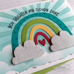 Somewhere Over The Rainbow Kit - Deconstructing Jen Card Making Kits, Card Making Tutorials, Making Ideas, Scrapbooking, Scrapbook Cards, 3d Cards, Folded Cards, Card Kit, Card Tags