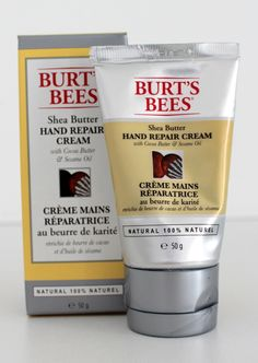 A gorgeous Shea Butter hand cream infused with cocoa butter and sesame oil, it's absorbed quickly to keep hands smooth and soft. The perfect size tube for handbags! Cocoa Butter, Shea Butter, Sesame Oil, Burts Bees, Hand Cream, Skincare, Healing, Smooth, Hands