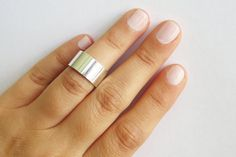 Silver ring  Silver cuff ring Band silver knuckle by HLcollection, $18.00