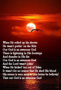 AWESOME GOD by Rich Mullins.  One of my favorite songs. Christian Songs, Christian Quotes, Love The Lord, Gods Love, Rich Mullins, Musician Quotes, Song Lyrics Art, Godly Man, Praise And Worship