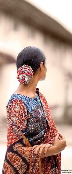 Shalini James' Mantra: Indian by Choice Collection - Kalamkari prints, mashru… Biba Fashion, India Fashion, Ethnic Fashion, Fashion Shoot, Indian Style, Indian Ethnic, Indian Wear, Indian Prints, Indian Textiles