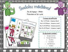 Sudoku médiéval - Atelier mathématique - Préscolaire , 1er cycle du primaire