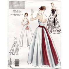 Vogue pattern for evening gown dress 34 inch bust. Sewing pattern 2239. Factory folded FF. by Tigrisa on Etsy https://www.etsy.com/uk/listing/519172954/vogue-pattern-for-evening-gown-dress-34