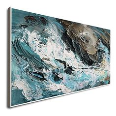 Amazon.com: Large Canvas Wall Art Minimalist Abstract Painting Navy Abstract Wall Art Contemporary Wall Art Contemporary Painting For Living Room Abstract Painting Famous Abstract Artists: Handmade