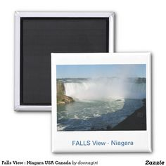 Falls View : Niagara USA Canada Fridge Magnets