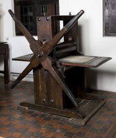 Copperplate printing press, c.1714
