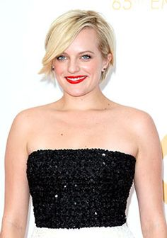 Actress Elisabeth Moss at the 65th Annual Primetime Emmy Awards