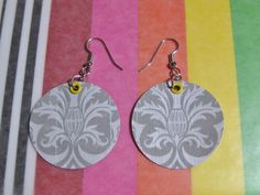 Tutorial for Making Earrings with Scrapbook Paper and Mod Podge