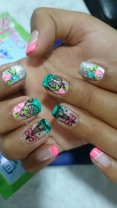 Ifel Wow Nails, Pretty Nails, Fancy Nails, Pink Nails, Colorful Nail Designs, Nail Art Designs, Magic Nails, Nails 2017, Dream Nails