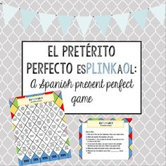 Spanish Present Perfect - El pretérito perfecto Game/Activ