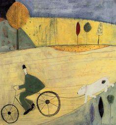 Spence, Annora (English, b 1963) - Walking the Dog - 1993