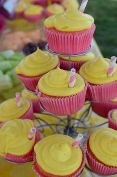 Printable lemon drink tag - Sunshine and Lemonade party - You are my sunshine - Shower - Birthday p Fancy Napkin: . Pink Lemonade Recipes, Pink Lemonade Cupcakes, Pink Lemonade Party, Pink Lemonade Baby Shower Ideas, Strawberry Lemonade, Flamingo Cupcakes, Thumbprint Cookies, Party Kit, Party Ideas